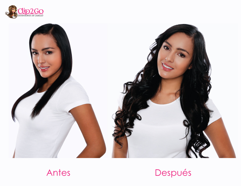 extensiones de cabello natural con clips